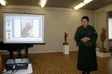 Pranešimą skaito Irena Petraitienė, Kauno miesto muziejaus direktorė